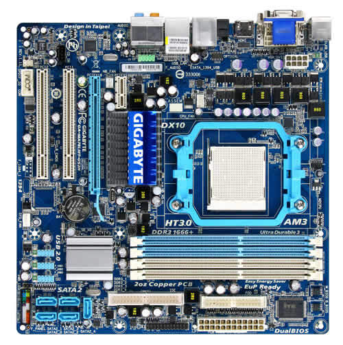 GA-MA78LMT-US2H (rev. 1.1) - Motherboard